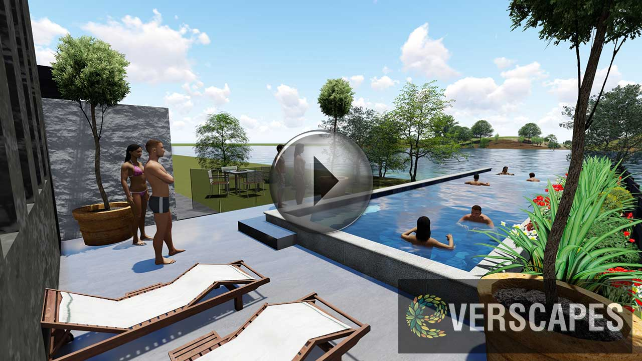 Landscape architects brisbane residential landscape for Pool design brisbane