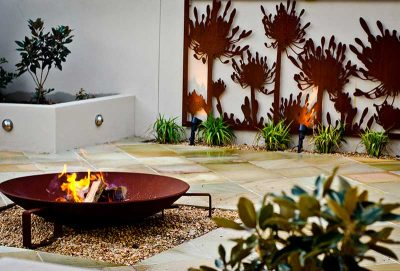 Fire pit and courtyard Brisbane