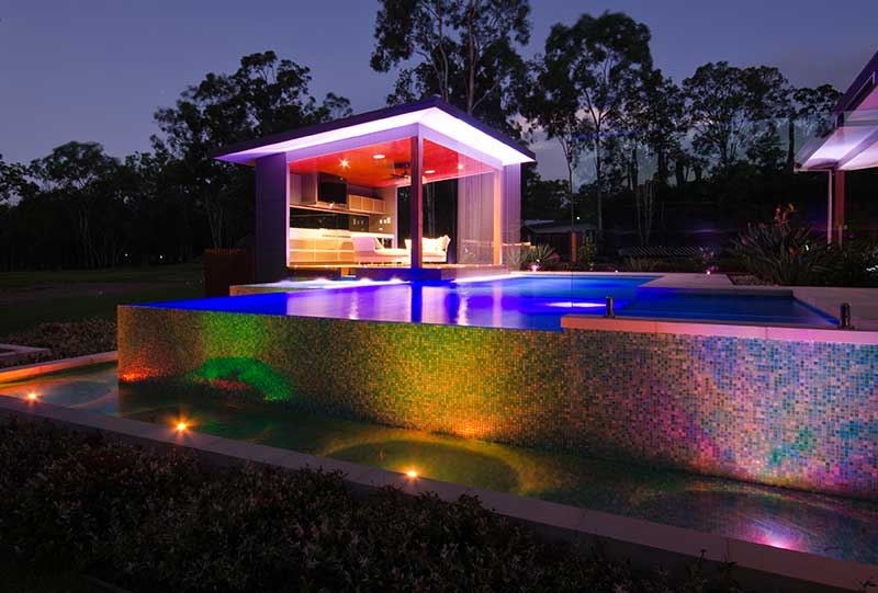 Infinity Pool & Pool House. Designed and build by our landscapers.