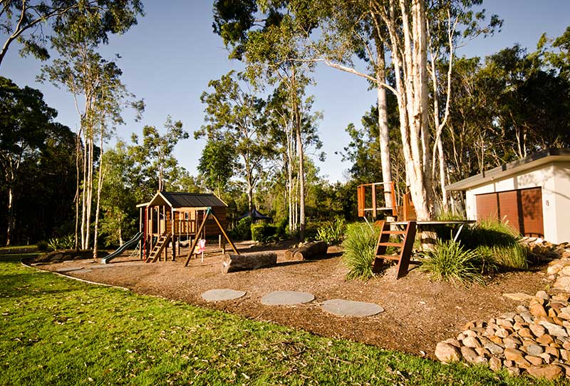 Outdoor adventure area for the kids.